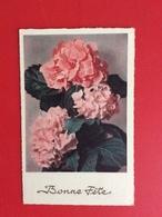 "CPA Hortensias Roses ""Bonne Fête"" Ref 399 - Flowers"