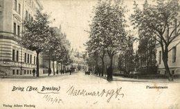 BRIEG PIASTENSTRASSE BEZ. BRESLAU 1905  SEE RIGHT UNDER CORNER - Schlesien