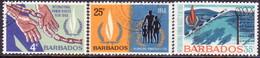 BARBADOS 1968 SG #378-80 Compl.set Used Human Rights Year - Barbados (1966-...)