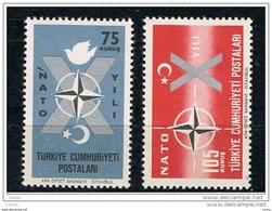 TURCHIA:  1962  N.A.T.O. -  S. CPL. 2  VAL. N. -  YV/TELL. 1614/15 - 1921-... Repubblica