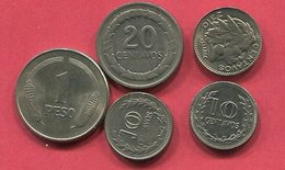 LOT 5 MONNAIES DIFFERENTES TB+ 3 - Colombia