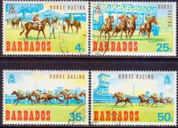 BARBADOS 1969 SG #381-84 Compl.set Used Horse-Racing - Barbados (1966-...)