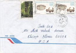 Cote D'Ivoire 1989 Abidjan Bracelet Jewelry Dan Tree Fruit Omphalocarpum Cover - Ivoorkust (1960-...)