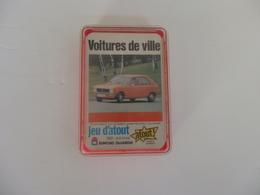 """Jeu De 32 Cartes Sur Les Voitures De Ville """"Jeu D'atout"""" Par E. Dujardin. - Voitures"""