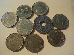 LOT DE 9 PIECES DE 5 CENTIMES DIFFERENTES. 1919 / 1998 - C. 5 Centimes