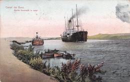 CPA  Canal De Suez - Navire Traversant Le Canal - 1912 - Suez