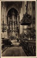 Cp Gdańsk Danzig, Marienkirche, Orgel Und Kanzel - Danzig