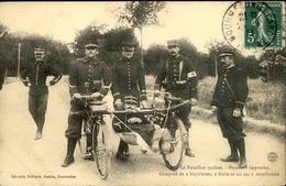 MILITARIA - Carte Postale - Bataillon Cycliste , Brancard Improvisé - L 29710 - Régiments