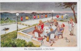 AK 0242  Das Geburtstagskind , Es Lebe Hoch ! - Motiv Ca. Um 1930 - Geburtstag