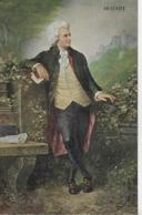 AK 0242  Wolfgang Amadeus Mozart - Gemälde V. Prof. Val. Janschek / Verlag Huttegger Um 1920 - Sänger Und Musikanten