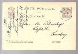 1881 ESCH-SUR-SURE Michel P30 To Breisdorff Libraire (541) - Entiers Postaux