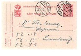 1921 LUX-Ville-4 To Professeur Heurtz (543) - Entiers Postaux