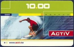KAZAKHSTAN PRE-PAID REMOTE MEMORY CARD 10 UNITS SPORT SURFING VERY GOOD - Kazakhstan