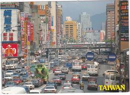 Taipei City: CEMENT-TRUCK, TOYOTA COROLLA, VOLVO 244 & VOLVO AUTOBUS, MAZDA 323 Mk2, FORD ESCORT MK3  - (Taiwan) - Toerisme