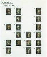 Ed. 0 1+1A - 6 Cuartos.Estudio De Plancheo Y Matasellos Montado En 5 Hojas Exposición (Arañas Baezas…) - Oblitérés