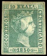 Ed. * 5 - 10 Reales Verde. (Tipo 22 Bloque Reporte). Precioso Ejemplar Con Amplios Márgenes Y Color Fresco… - 1850-68 Royaume: Isabelle II