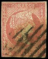 Ed. 0 48F - 4 Cuartos. Falso Postal (tipo 52-I Graus) Muy Raro Tipo. - 1850-68 Koninkrijk: Isabella II