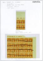 Ed. 0 52ed - 4 Cuartos Amarillo. Conjunto De 2 Bloques (1 Bloque De 4 + 1 Bl. De 24 Ejemplares) - 1850-68 Royaume: Isabelle II
