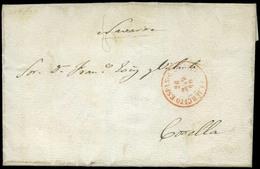 """Carta Con Remite """"Campamento A La Entrada De Tondal"""" (Marruecos) 24/3/60 Y Cda A Corella. Fechador """"Ejército…"""" - 1850-68 Koninkrijk: Isabella II"""