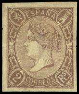 Ed. * 73 - 2 Reales Lila.Precioso Ejemplar Por Sus Amplios Márgenes Y Color Intenso.Cert.SORO Cat. 570€ - 1850-68 Koninkrijk: Isabella II
