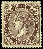 Ed. * 101 - 19 Cuartos Castaño. Precioso Ejemplar Por Su Buen Centraje Y Color Fresco. Goma Original - 1850-68 Royaume: Isabelle II