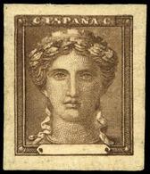 * Galvez 489 - 1870. Prueba Punzón Sobre Cartulina. Modelo No Adoptado. Precioso. Muy Escaso - 1850-68 Koninkrijk: Isabella II