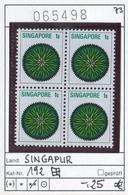 Singapur - Singapore - Michel 192 Im Viererblock / Bloc De 4 - ** Mnh Neuf Postfris - Singapur (1959-...)