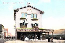 Train Railway Station Montmorency Falls To Ste-Anne-de-Beaupré - Written 1909 - 2 Scans - Ste. Anne De Beaupré