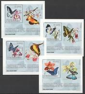 BB317 2006 S.TOME E PRINCIPE FLORA & FAUNA BUTTERFLIES ORCHIDS 4 LUX BL MNH - Schmetterlinge