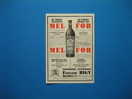 (1931) Vinaigre MELFOR - Vinaigrerie FERNAND HIGY - Mulhouse (Haut-Rhin) - Sin Clasificación