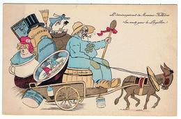 """Le Déménagement De Monsieur Fallières / """" En Route Pour Le Loupillon """"  / Ane - Satirical"""