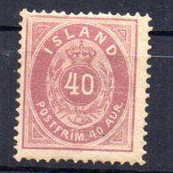 Sello Nº 15   Islandia - 1873-1918 Dependencia Danesa