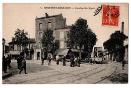 FONTENAY SOUS BOIS CARREFOUR DES RIGOLOS TRAM  TRES ANIMEE - Fontenay Sous Bois