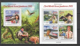 ST515 2015 SIERRA LEONE ORGANIZATIONS SCOUTING WORLD JAMBOREE 1KB+1BL MNH - Scoutisme
