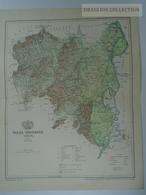 W513.3  Hungary TOLNA Vármegye - SZEGZARD Kéty Zomba Bátaszék  - Ca 125 Years Old Map For Pallas Lexikon Hungary Ca 1890 - Geographical Maps