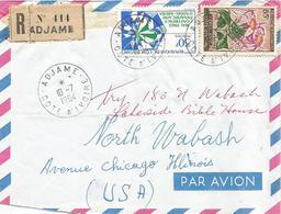 Cote D'Ivoire 1964 Adjame Medicinal Plant Liana Strophanthus Sarmentosus Poisonous Registered Cover - Geneeskrachtige Planten