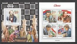 ST532 2015 SIERRA LEONE GAMES CHESS 1KB+1BL MNH - Schaken