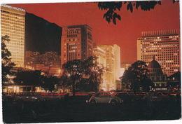 Hong Kong: VW 1200 BEETLE/KÄFER/COX - Night View Of Bank District - Hong Kong Hilton Hotel - Toerisme