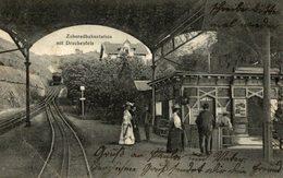 ZAHNRADBAHNSTATION MIT  DRACHENFELS  GRUSS AUS KONIGSWINTER - Alemania