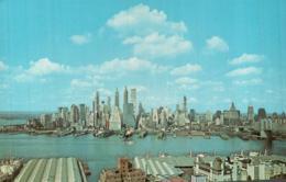 LOWER MANHATTAN SKYLINE NEW YORK CITY CPSM PAS CIRCULEE - Manhattan