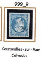 France : Petit Chiffre N° 999 : Courseulles Sur Mer ( Calvados ) Indice 9 - Marcophilie (Timbres Détachés)