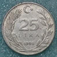 Turkey 25 Lira, 1986 -1021 - Turkey