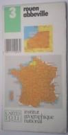 Carte   Institut Géographique National  N° 3 Rouen Abbeville - Cartes Routières