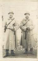 MILITARIA  Deux Militaires 115 Sur Col  Cp Photo    2scans - Documents