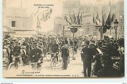 SAINT-GERMAIN - Marche De L'Armée 29 Mai 1904 - Le Peloton Cycliste Arrivant Au Contrôle - St. Germain En Laye