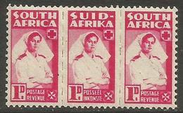 South Africa - 1943 Nurse 1d Bilingual Strip MNH **   SG 98  Sc 91 - South Africa (...-1961)
