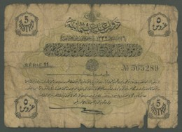 (Turquie) Billet De 5 Piastres 1916 . - Turquie