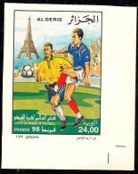 ALG Algeria No. 1163 Non Dentelé Imperforate Coupe Du Monde De Football France 1998 ** Paris - Coupe Du Monde