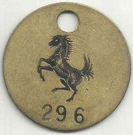 Ferrari Auto, Vecchio Gettone (passi Visitatore Box Corse O Officina ?), Ae. Gr. 15, Cm. 4. - Italia