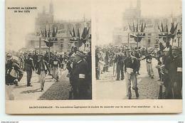 SAINT-GERMAIN - Marche De L'Armée 29 Mai 1904 - Un Contrôleur Appliquant Le Timbre De Contrôle Sur La Main D'un Marcheur - St. Germain En Laye